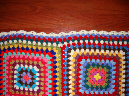 The edging of my granny monster blanket