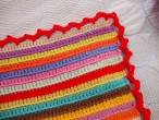stripy blanket: the edging