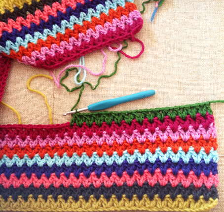 V stitch stripes