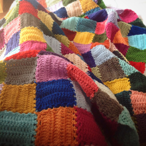 The crochet mood blanket 2014