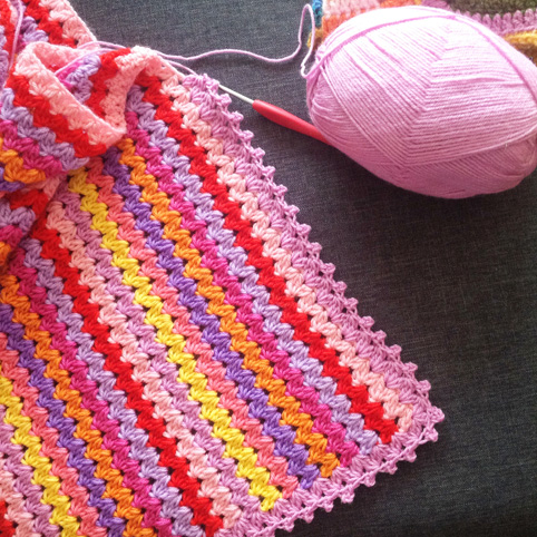 A baby girl blanket
