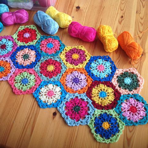 Free Crochet Hexagon Hippo Pattern : Le monde de Sucrette