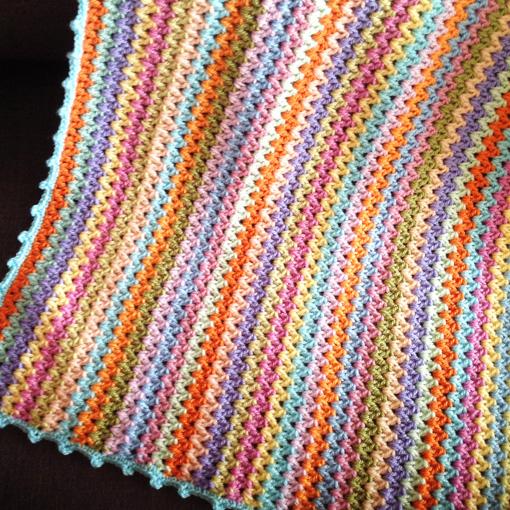 V Stitch Baby Blanket Le Monde De Sucrette