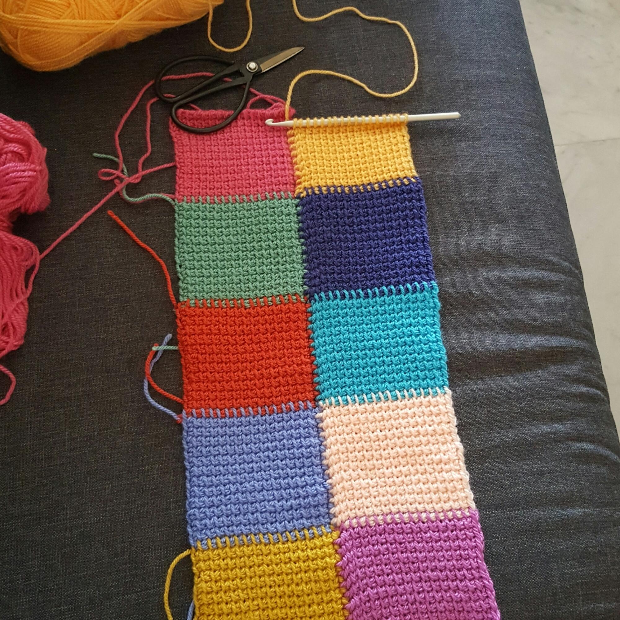 Easy Tunisian Crochet Baby Blanket Pattern : tunisian crochet ? Le Monde De Sucrette