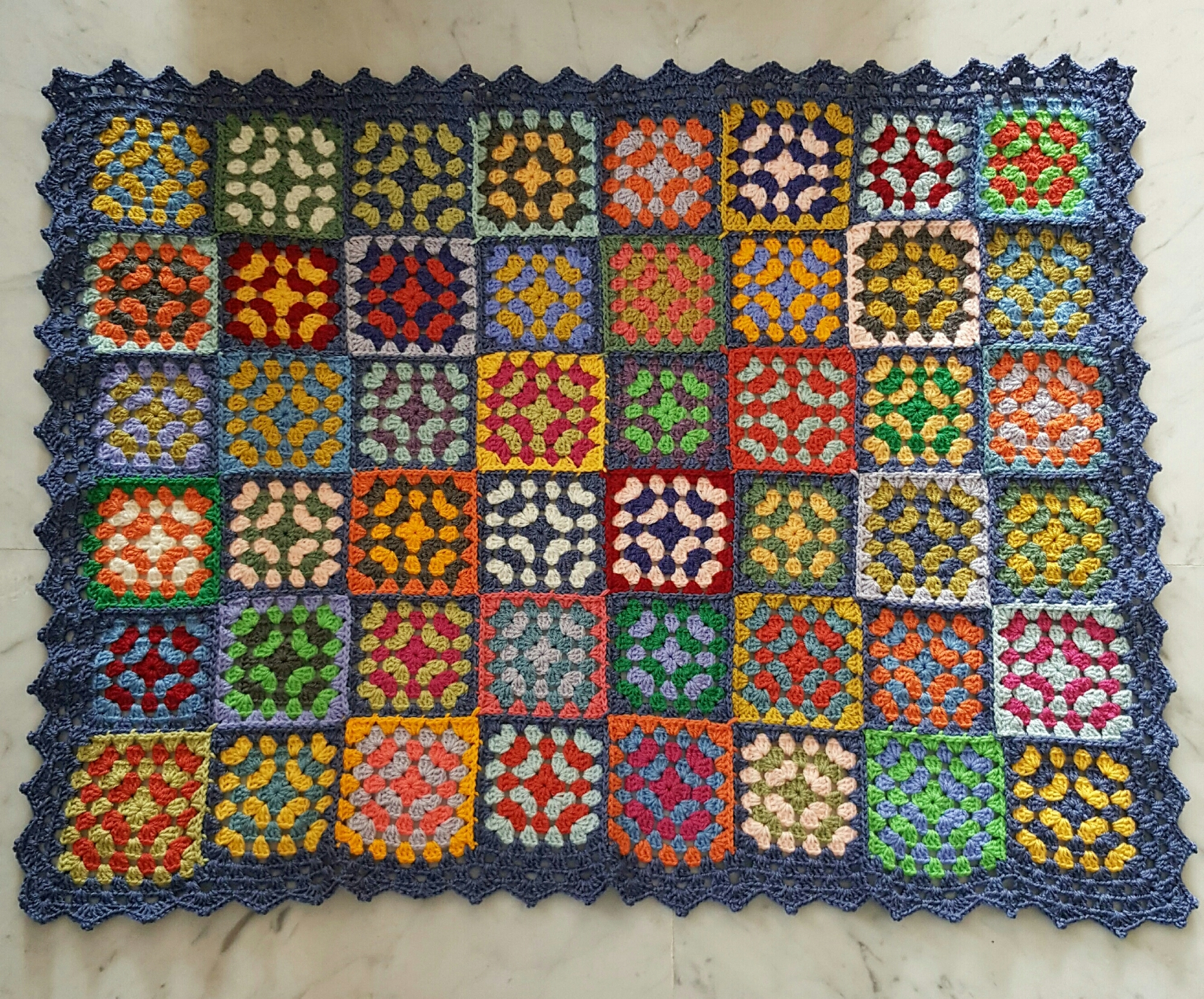 The stained glass baby blanket 💙